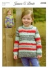 Knitting Pattern - James C Brett JB488 - Fairground DK - Cardigan and Sweater